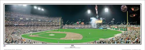 """600"" Barry Bonds San Francisco Giants Panoramic Framed Poster"