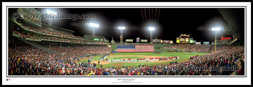 """""""2007 World Series"""" Boston Red Sox Panoramic Framed Poster"""