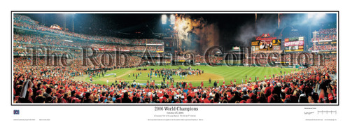 """2006 World Champions"" St. Louis Cardinals Panoramic Framed Poster"