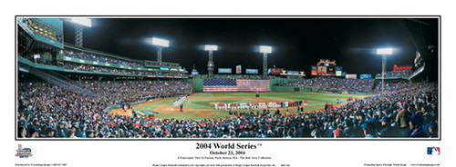 """2004 World Series"" Game 1 Boston Red Sox Panoramic Framed Poster"