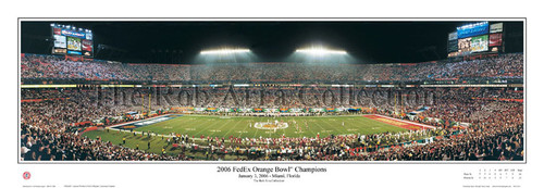 """2006 FedEx Orange Bowl"" Penn State Beavers Panoramic Poster"