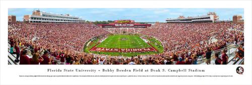 Florida State Seminoles at Doak Campbell Stadium Panoramic Poster