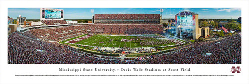 Mississippi State Bulldogs at Davis Wade Stadium Panoramic Poster