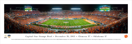 """2015 Orange Bowl"" Sun Life Stadium Panorama Poster"