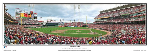 Cincinnati Reds at Great American Ball Park Panoramic Framed Poster