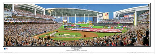 Miami Marlins at Marlins Park Panoramic Poster