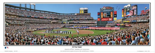 """2013 MLB All-Star Game"" Citi Field Panoramic Framed Poster"