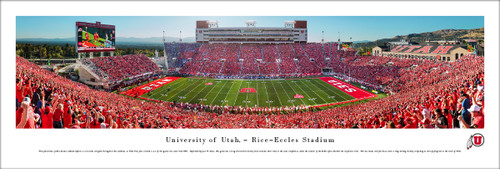 """Utah Utes """"50 Yard Line"""" at Rice Eccles Stadium Panorama Poster"""