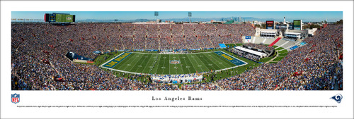 Los Angeles Rams at Los Angeles Coliseum Panorama Poster