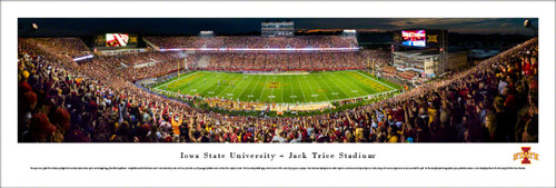 Iowa State Cyclones at Jack Trice Stadium Panoramic Poster