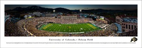 Colorado Buffaloes at Folsom Field Panoramic Poster