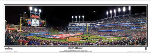 """2016 World Series"" Progressive Field Panoramic Framed Poster"