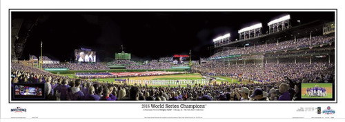 """2016 World Series Champions"" Wrigley Field Panoramic Framed Poster"