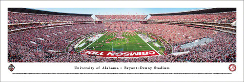 """Iron Bowl"" Alabama vs Auburn - Bryant Denny Stadium Panorama Poster"