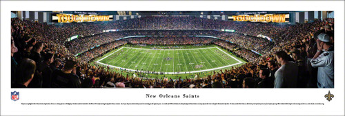 New Orleans Saints at the Mercedes-Benz Superdome Panoramic Poster