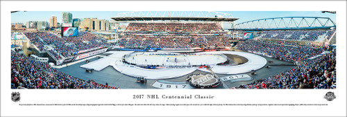 2017 NHL Centennial Classic Panoramic Poster - Toronto Maple Leafs vs Detroit Red Wings
