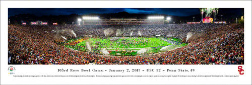 2017 Rose Bowl Game - USC vs Penn State Panoramic Poster