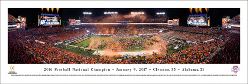 2016 Football National Champion Clemson Tigers Panoramic Poster