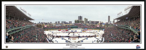 """2009 NHL Winter Classic"" Wrigley Field Panoramic Poster"