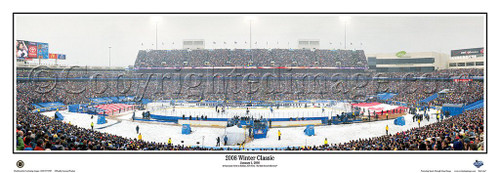 """2008 NHL Winter Classic"" Ralph Wilson Stadium Panoramic Poster"