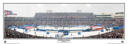 """""""2008 NHL Winter Classic"""" Ralph Wilson Stadium Panoramic Poster"""