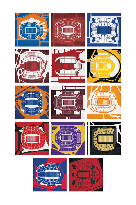 SEC Football Stadiums Poster