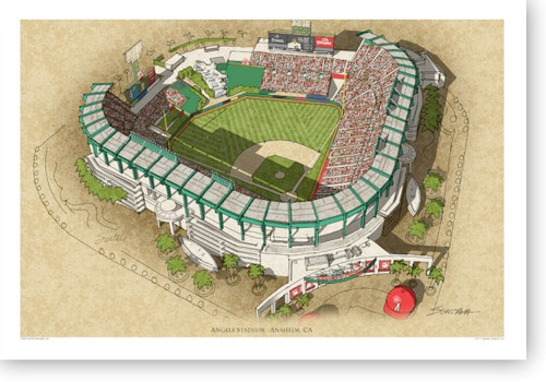Angel Stadium - Los Angeles Angels Print