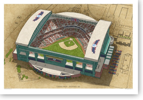 Chase Field - Arizona Diamondbacks Print