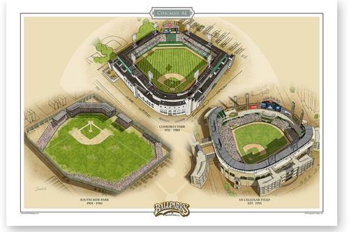Chicago White Sox Ballparks Print