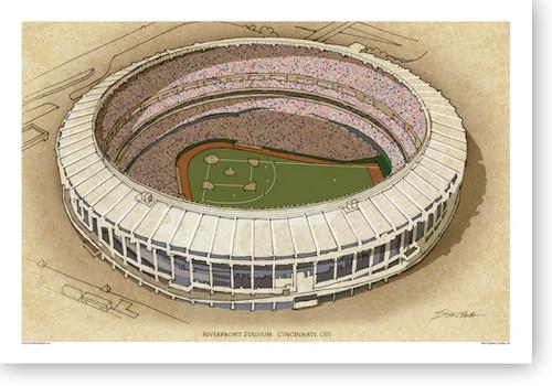 Riverfront Stadium - Cincinnati Reds Print