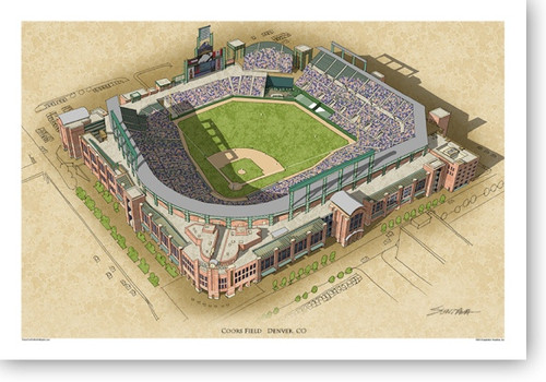 Coors Field - Colorado Rockies Print