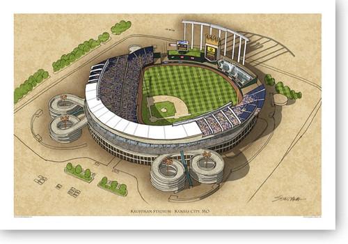 Kauffman Stadium - Kansas City Royals Print