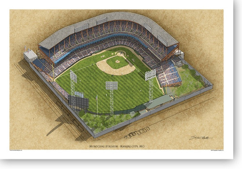 Kansas City Municipal Stadium - Kansas City Royals Print