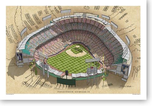 Dodger Stadium - Los Angeles Dodgers Print