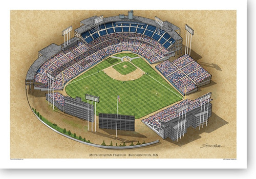 Metropolitan Stadium (late) - Minnesota Twins Print