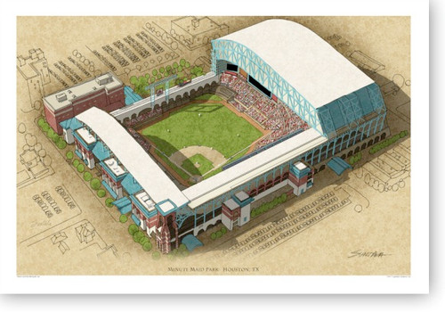 Minute Maid Park - Houston Astros  Print