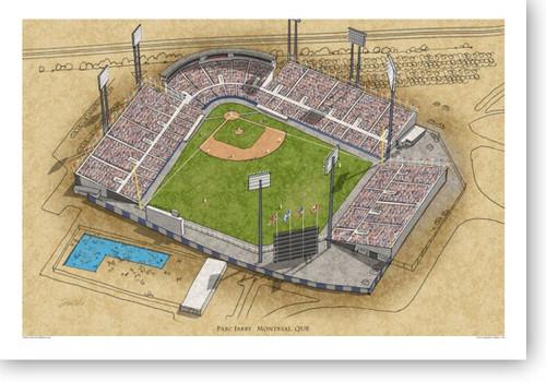 Jarry Park - Montreal Expos  Print