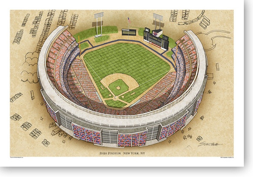 Shea Stadium - New York Mets  Print