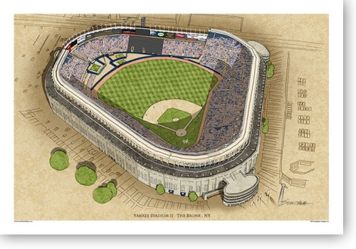 Yankee Stadium (II) - New York Yankees  Print