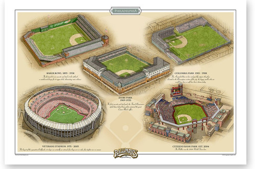Philadelphia Phillies Ballparks Print