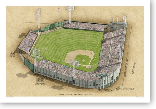 Seals Stadium - San Francisco Giants  Print