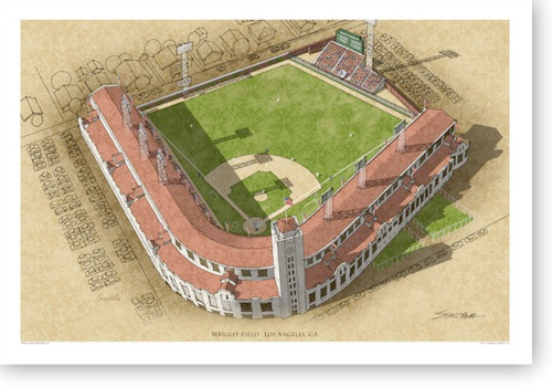 LA Wrigley Field - Los Angeles Angels Print