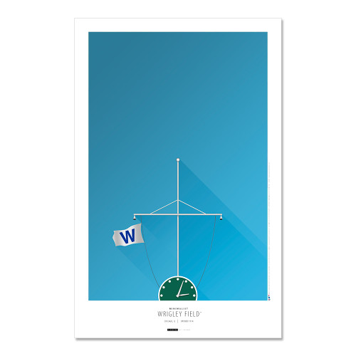 Chicago Cubs - Wrigley Field (Flags) Art Poster
