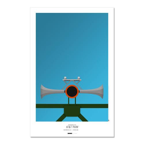 San Francisco Giants - AT&T Park (horn) Art Poster