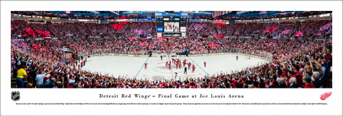 Detroit Red Wings Last Game at Joe Louis Arena Panoramic Poster