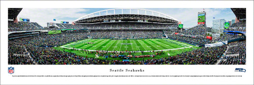Seattle Seahawks at CenturyLink Field Panoramic Poster