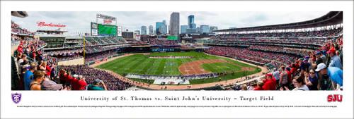St. Thomas Tommies vs Saint John's Johnnies at Target Field Panorama Poster
