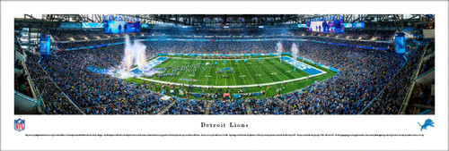 Detroit Lions at Ford Field Panoramic Poster
