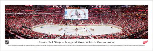"Detroit Red Wings ""Inaugural Game"" at Little Caesars Arena Panoramic Poster"