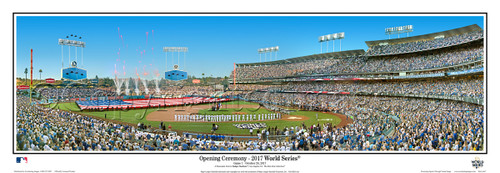 """2017 World Series"" Los Angeles Dodgers at Dodger Stadium Panoramic Framed Poster"